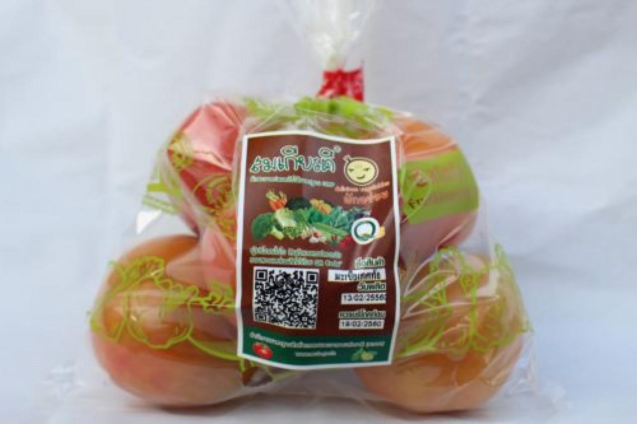 มะเขือเทศท้อ ตรา สมเกียรติผักอร่อย